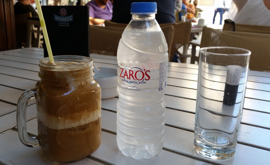 Greek frappe on a sunny day - wonderful decision