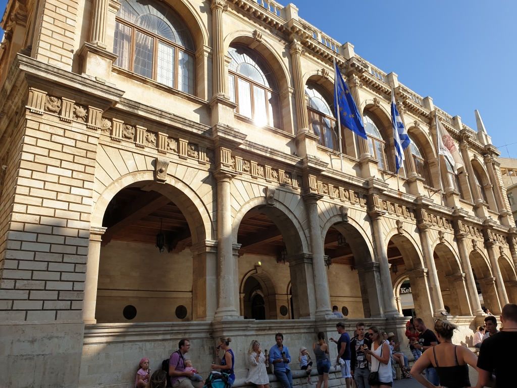 One of the engmatic buildings at the center of Heraklion