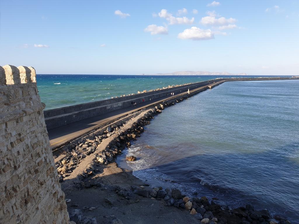 The sea around Crete Island