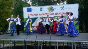 Guest dancers from Romania at the festival in Gotse Delchev