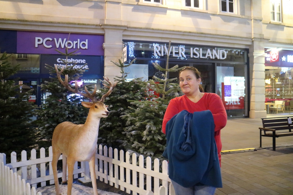 Visit Bath for Xmas and take a photo with a deer