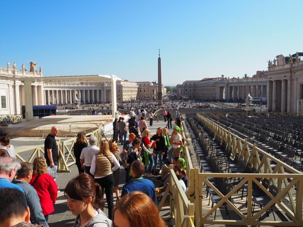St. Peter's Square, the Vatican, from the St Peter's Cathedral