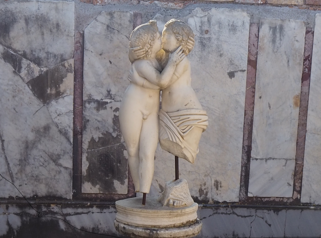 Visit Ostia Antica: the statue of Cupid and Psyche