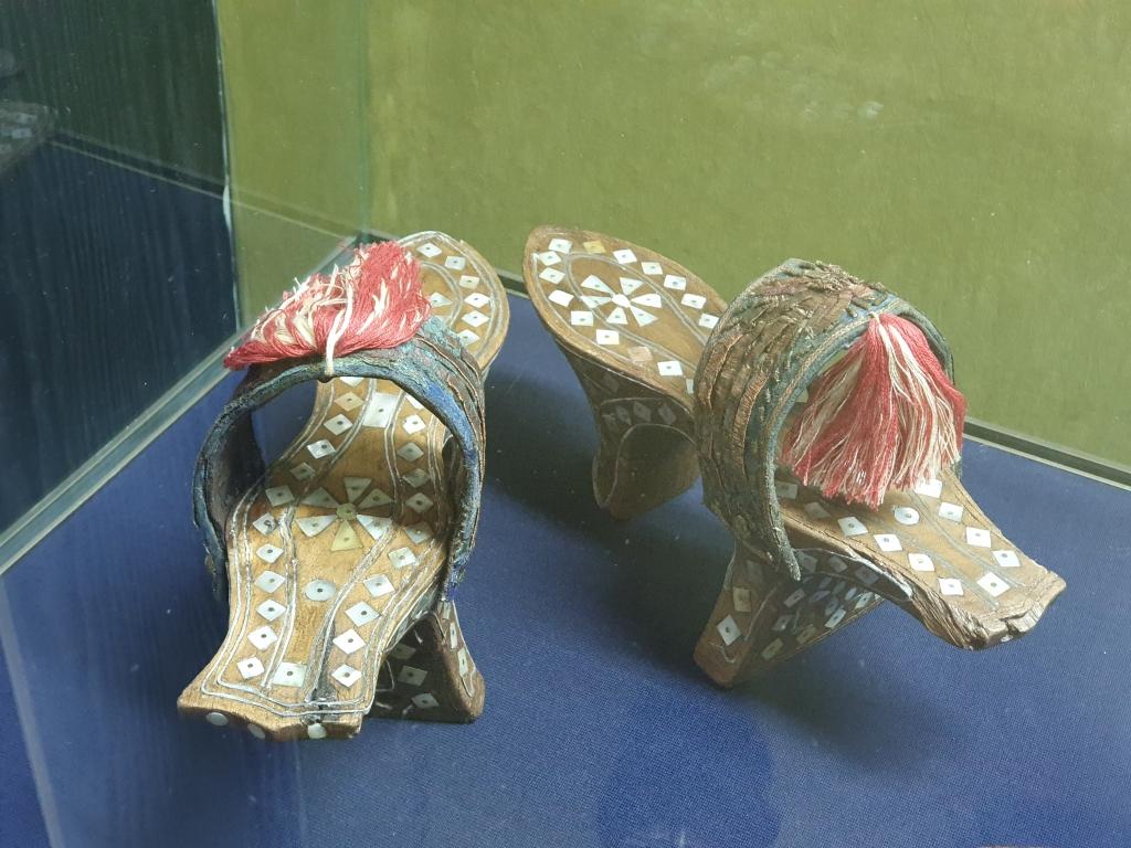 Strange flippers at ethnographic exhibition
