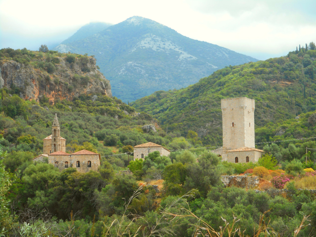 Typical architecture of Mani people, Peloponnese, Greece