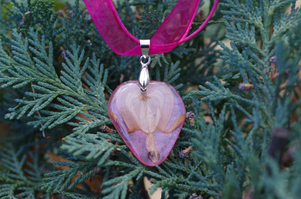 A bleeding-heart necklace