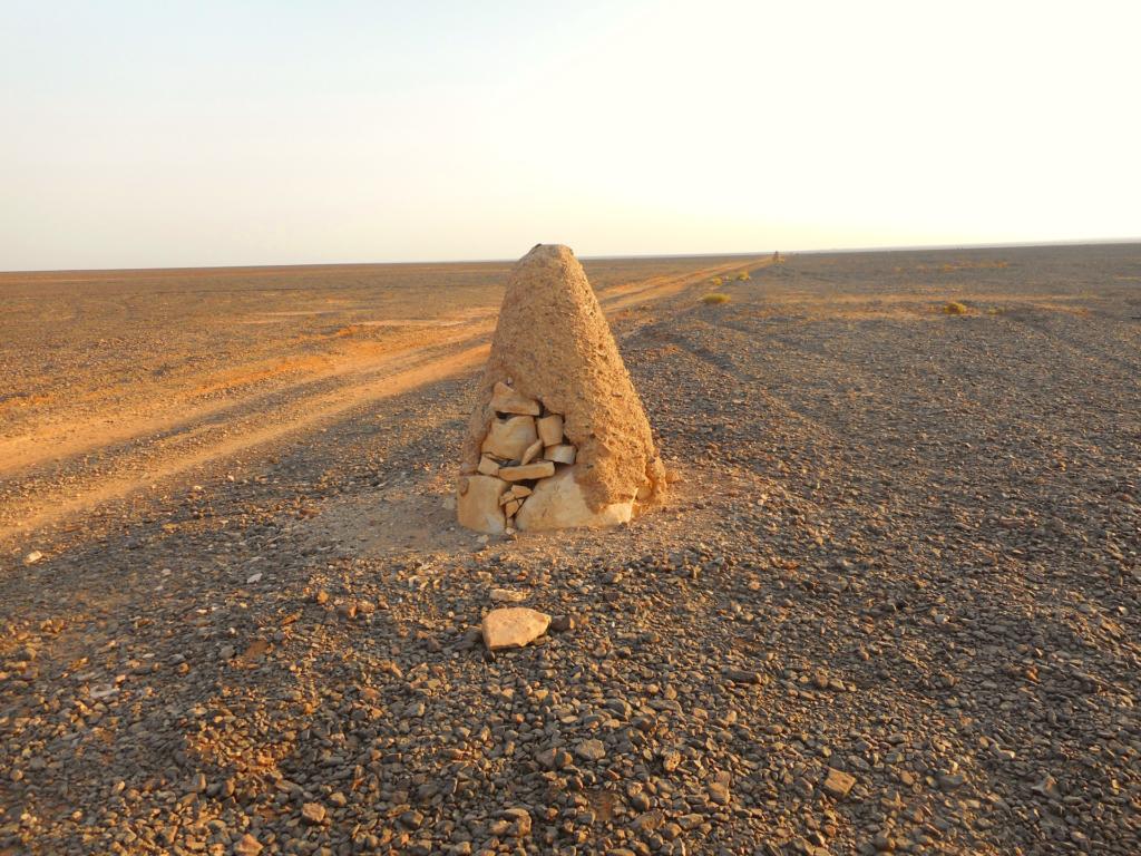 The basalt desert of Easr Jordan