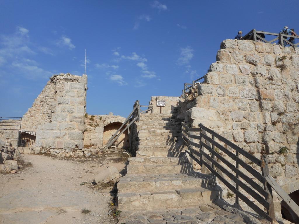 On top Ajloun Castle