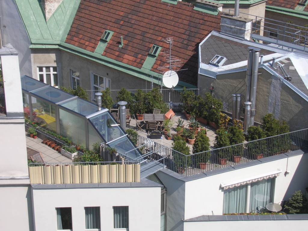 Rooftop gardens are all over Vienna