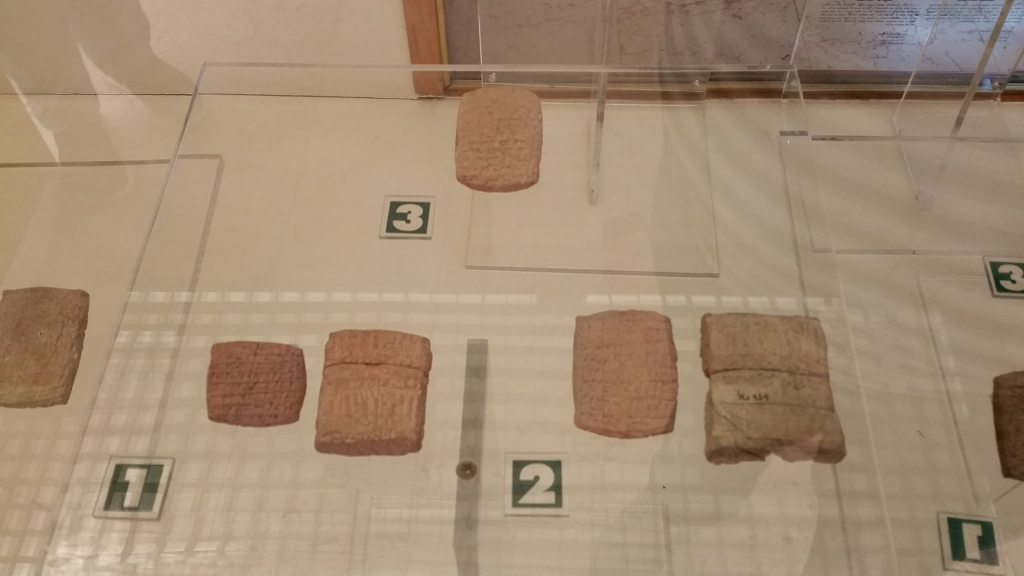 Cuneiform tablets in the Archaeological Museum of Istanbul