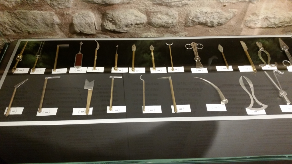 A set of ancient medical instruments from the Museum for the history of science and technology in Islam, Istanbul