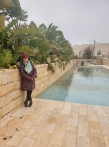 The yard of Mahmoud Derwish's Museum, Ramallah