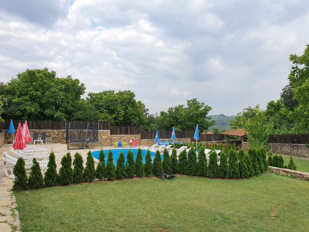 The yard of Kereka Villa