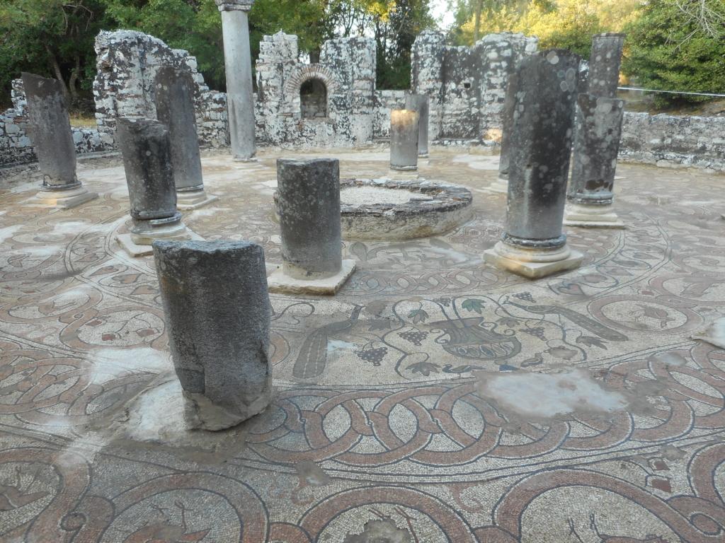 The beautiful baptisterium of Butrint, Albania