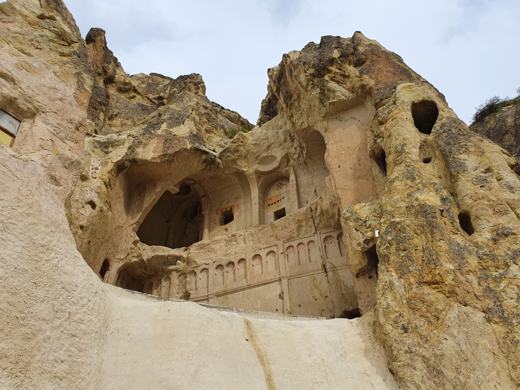 The entrance to the Dark Church of Goreme