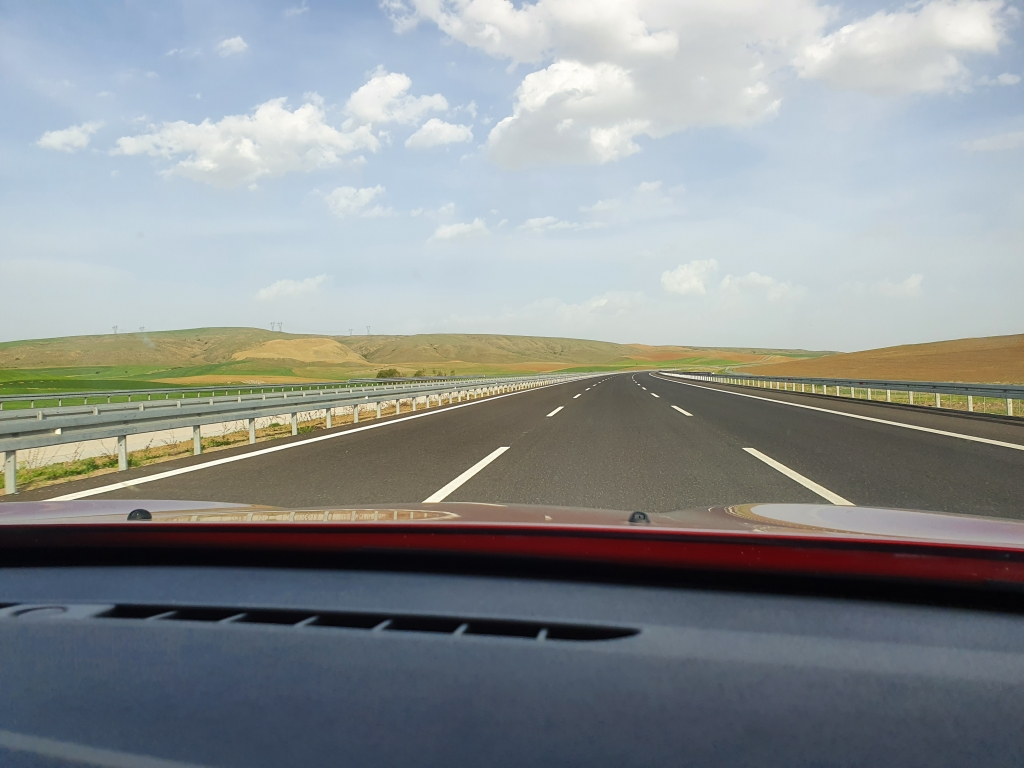 The highway from Istanbul to Ankara in Lockdown