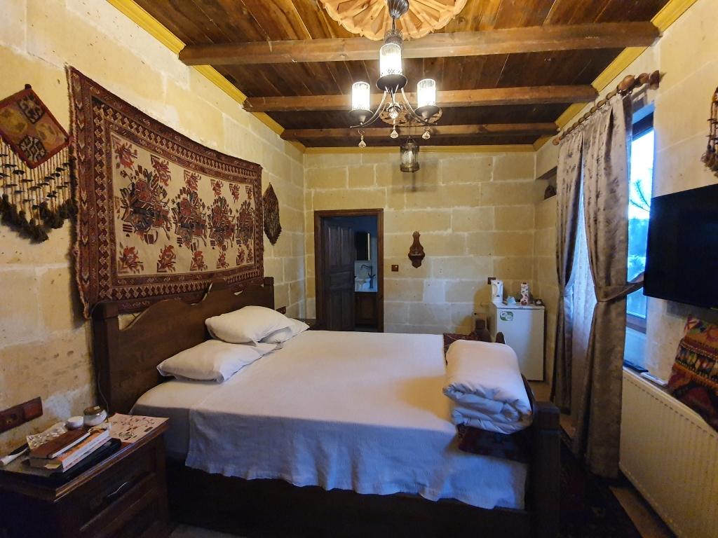 The bedroom of a hotel in Cappadocia