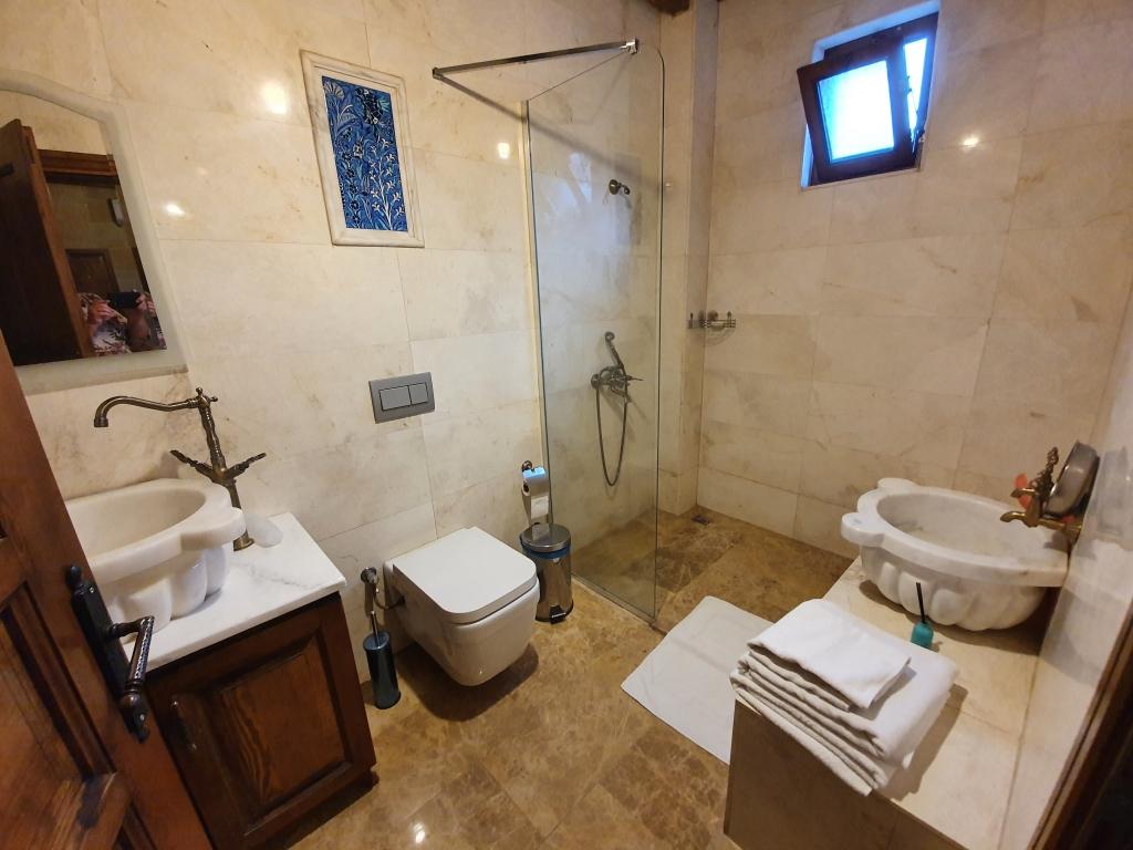 A bathroom in a hotel in Cappadocia