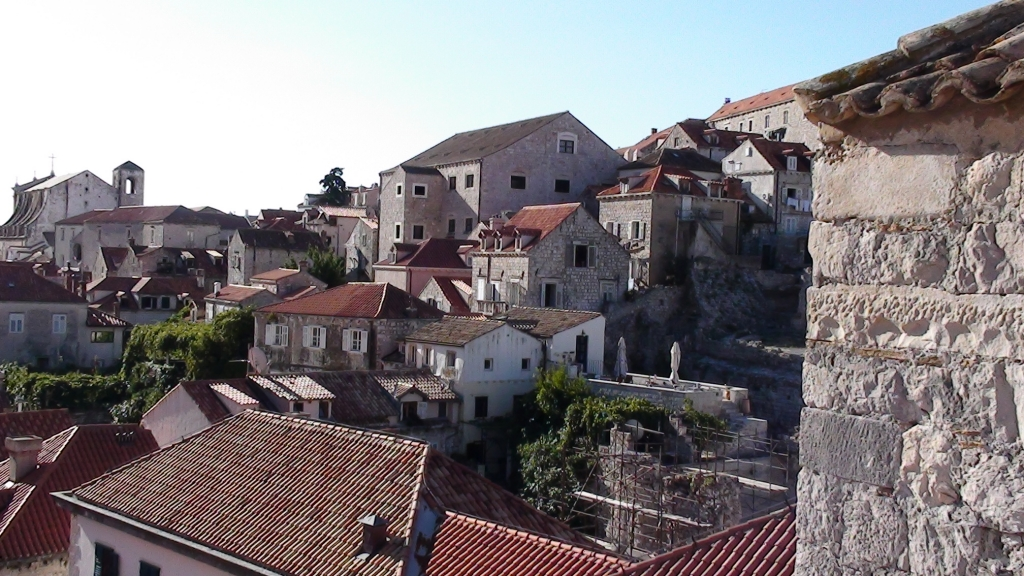 A view from the walls of Dubrovnik